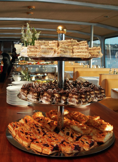Desserts on the Budapest Lunch Cruise