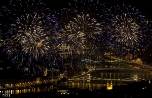 Hungary Fireworks in Budapest