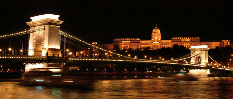 Chain Bridge and Buda Castle from the river boat