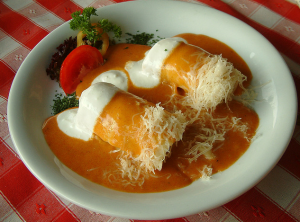 Stuffed cabbage Hungarian Christmas dish
