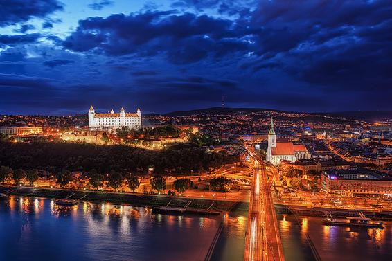 Bratislava on the Danube cruise