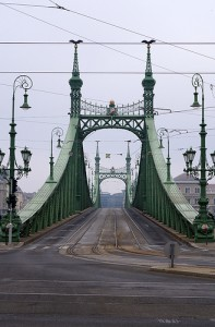 Christmas Budapest Liberty Bridge River Danube
