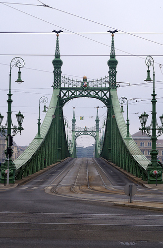 Christmas Budapest Liberty Bridge River Danube