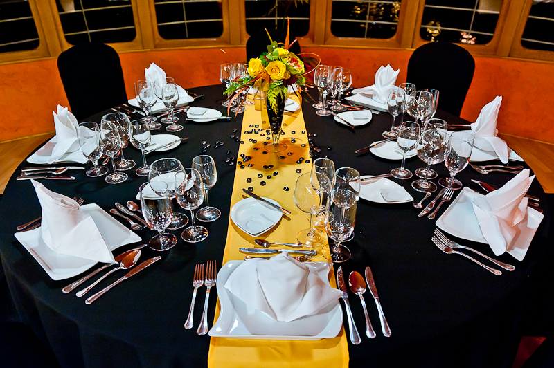 Black and Yellow Decor Europa Ship Budapest