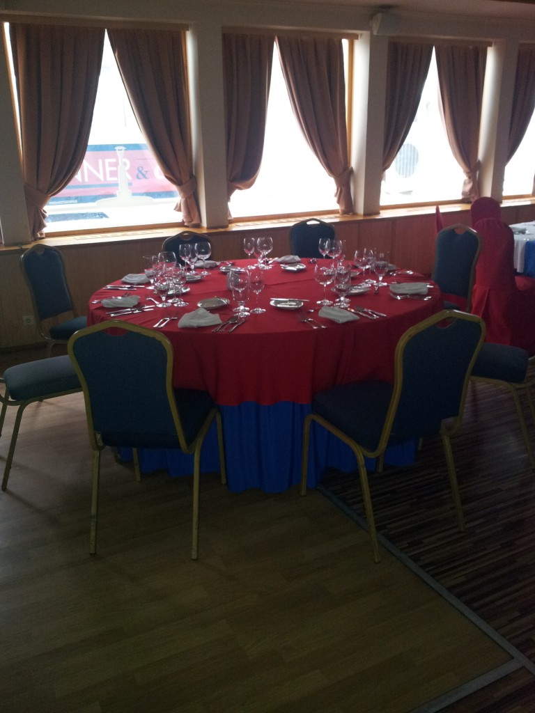 Chairs on Europa Ship Budapest with no Decorative Cover