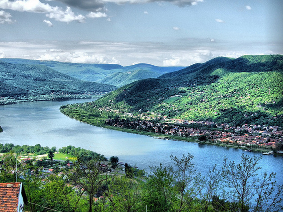 Danube Bend from Visegrad Castle