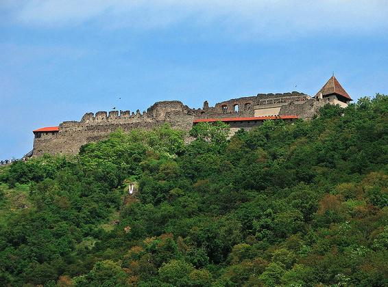 Visegrad Castle by the river Danube in the Danube Bend