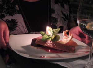 Dessert with Candle Romantic Birthday Budapest Cruise