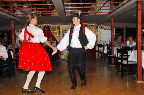 Hungarian Folk Dance Show on Budapest River Cruise