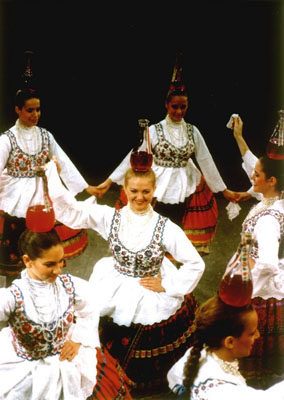 Hungarian Folk Dance Show Budapest Balancing Bottles