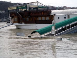 Budapest Danube Columbus Pub Ship under Flood Chad Briggs