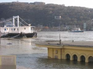 Budapest Danube River Flood