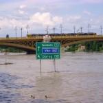 Budapest Danube River Flooding Margaret Bridge Klein