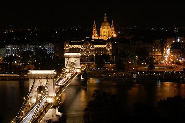 Budapest Night Cruise St Stephen Basilica