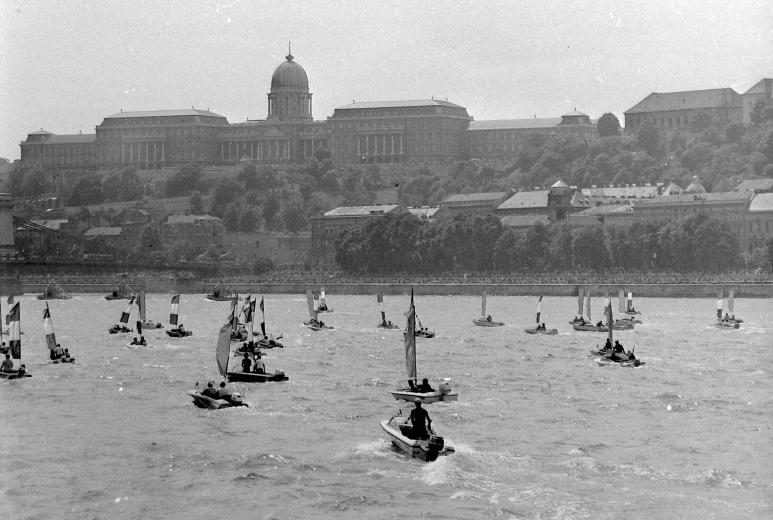 August 20 Danube Water Parade in Budapest in 1977