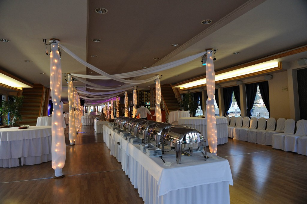 Europa Ship Europa Hall with Basic Buffet Style Dinner Party Decor