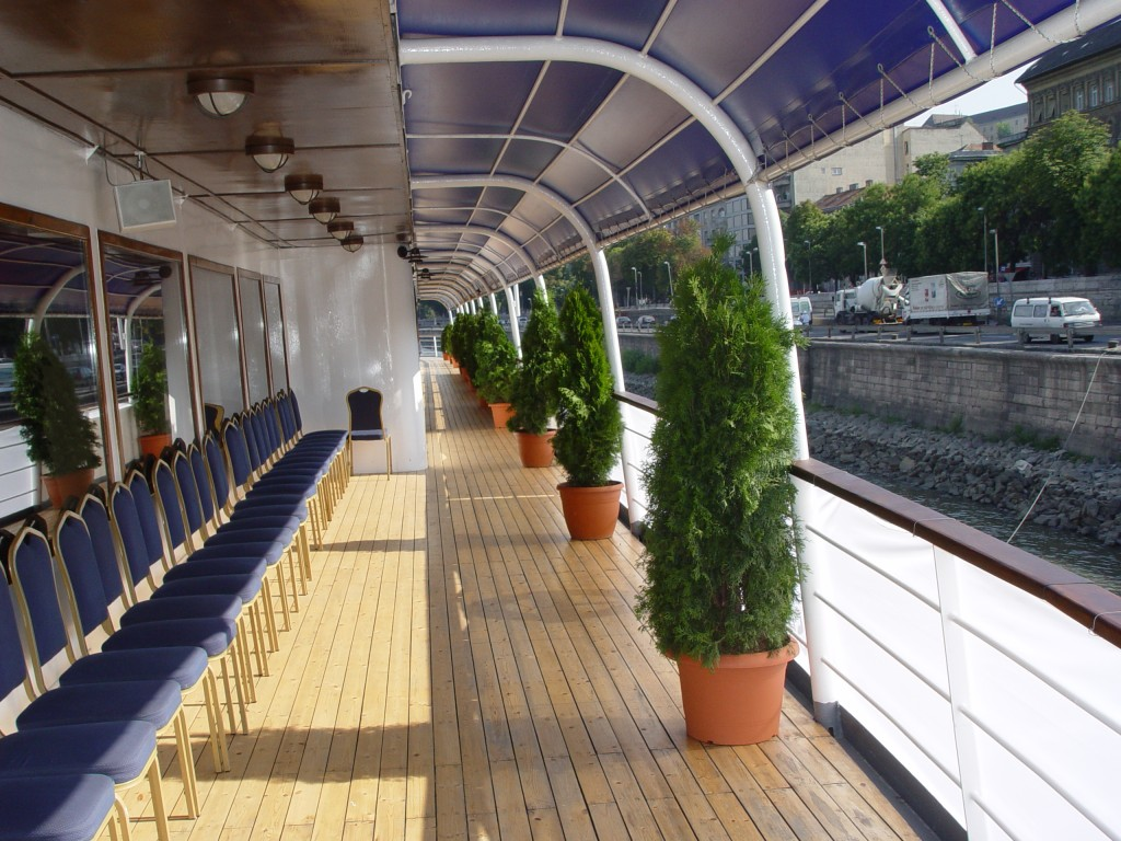 Middle Deck Roofed Terrace on Europa Ship Budapest