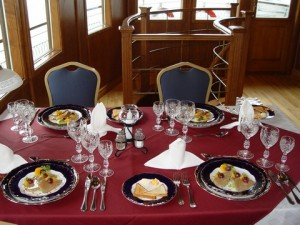 Dining on Pannonia Ship Budapest Private Cruise