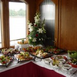 Fruits and Desserts on Pannonia Ship Budapest Private Cruise