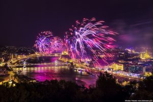 Budapest Fireworks over the river Danube by Miroslav Petrasko