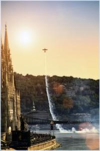 Red Bull Air Race Budapest over River Danube