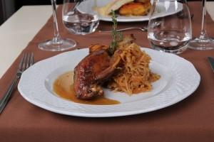 Duck Leg on Budapest Dinner Cruise - Nimrod Boat