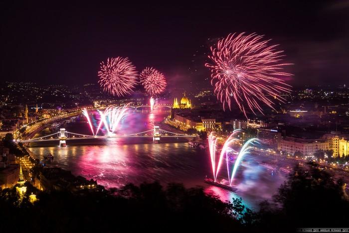 Budapest Fireworks on Danube 2014 Miroslav Petrasko