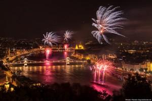 Budapest Fireworks on river Danube 2014 Miroslav Petrasko