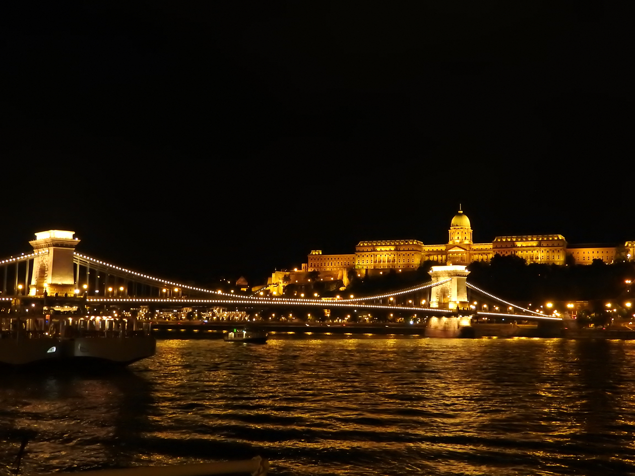 Budapest Buda Castle And Chain Bridge Night Brc Budapest