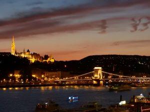 Budapest Matthias Church and Chain Bridge Night BRC