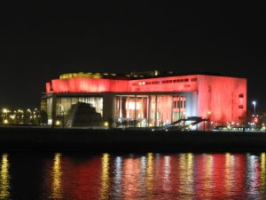 Palace of Arts Night Budapest River Attractions