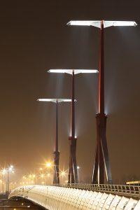 Rakoczi Bridge Night Budapest River Attractions by Gyorgy Soponyai