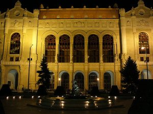 Vigado Concert Hall Night Budapest River Attractions by Leandro Neumann Ciuffo
