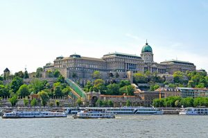 Buda Castle Day Budapest River Attractions by Dennis Jarvis