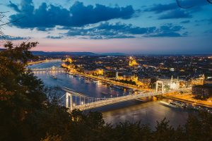 Elisabeth Bridge Night Budapest River Attractions by Wei-Te Wong