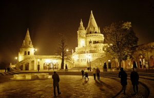 Fisherman's Bastion Night Budapest River Attractions by Stian Olsen