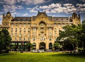 Gresham Palace Day Budapest River Attractions by Randy Connolly