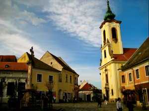 Main Square of Szentendre by Alex Barrow