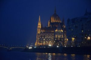 Budapest River Cruise Parliament Winter Evening photo by Schuhmi2