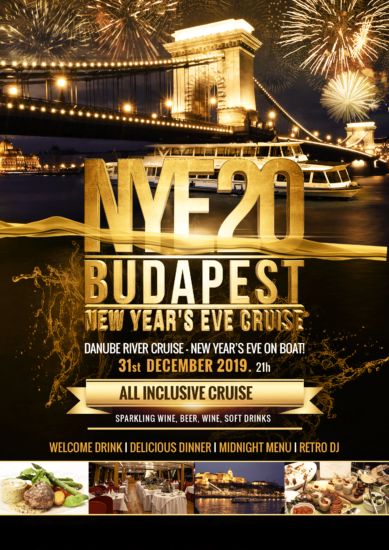 NYE Dinner Cruise & Retro Party Budapest Dec 31