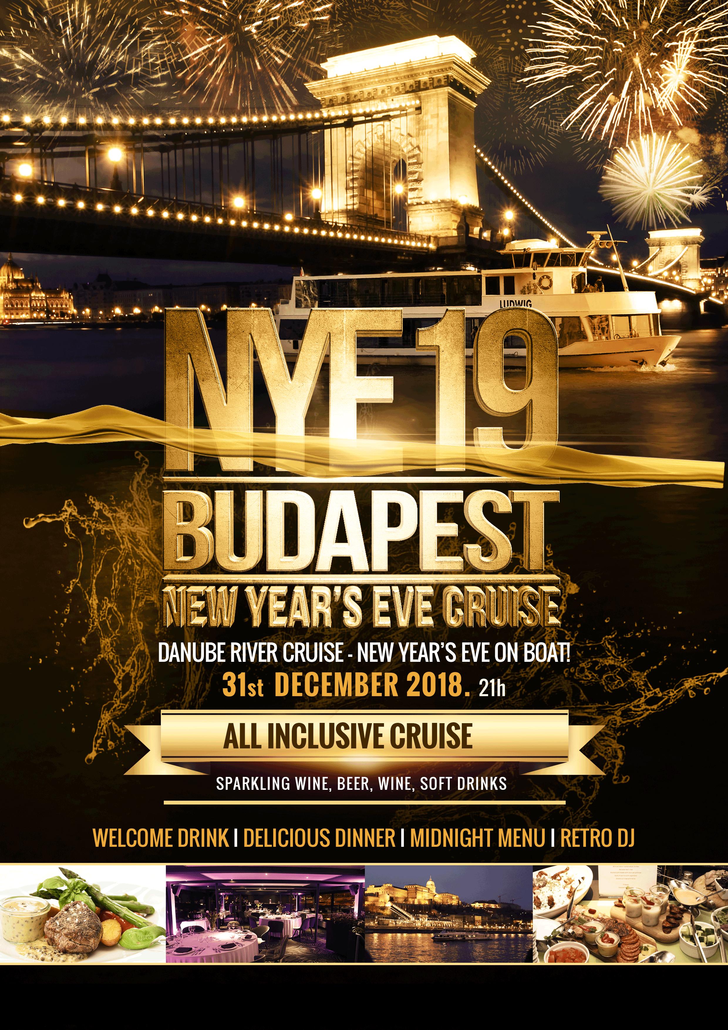 nye dinner cruise  u0026 retro party in budapest