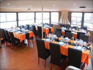 Tables on St Cristopher Boat