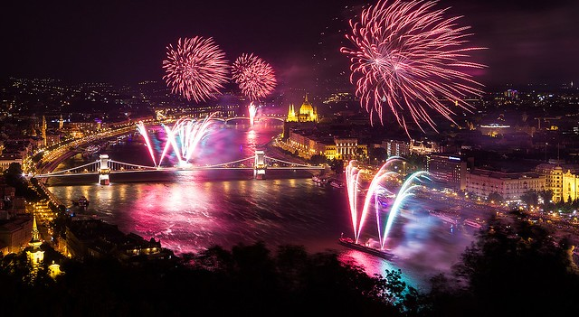 Budapest Boat Tour Fireworks Show Aug Danube River