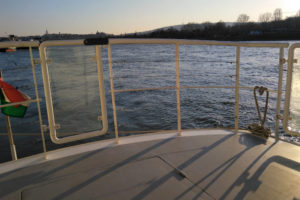 Budapest Private Boat Rental Clara Ship Deck Open Air