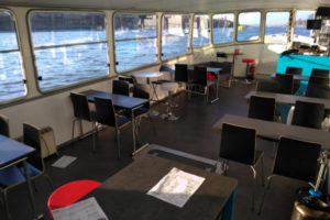 Clara Interior private boat rental Budapest River Cruise