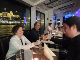 Celebrating on Dinner Cruise with Piano Music Budapest