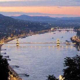 January Sunset Times Budapest Hungary