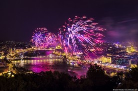 Budapest Fireworks by Miroslav Petrasko