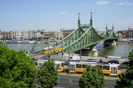 Streetcar by Liberty Bridge Day Budapest River Attractions John Morris