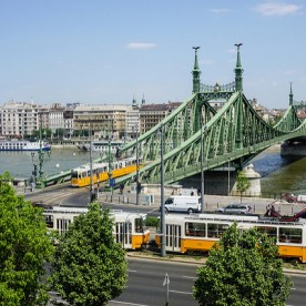 Streetcar by Liberty Bridge Day Budapest River Attractions John Morris